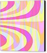 Seventies Swirls Canvas Print