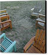 Several Lawn Chairs Scattered Canvas Print by Joel Sartore