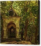 Shaded Chapel. Golden Green Series Canvas Print by Jenny Rainbow