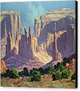 Shadows In The Valley Canvas Print by Randy Follis