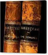 Shakespeare Leather Bound Books Canvas Print
