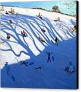 Shandows On A Hill Monyash Canvas Print