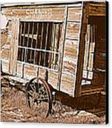 Shaniko Paddy Wagon Canvas Print by Cindy Wright
