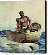 Shark Fishing Canvas Print