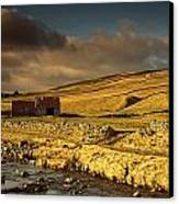 Shed In The Yorkshire Dales, England Canvas Print