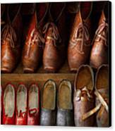 Shoemaker - Shoes Worn In Life Canvas Print by Mike Savad