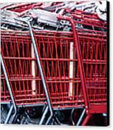 Shopping Carts Canvas Print by Sam Bloomberg-rissman