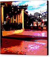 Shops Canvas Print by David Alvarez