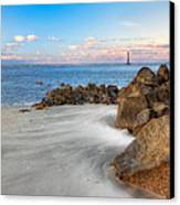 Shoreline View Morris Island  Canvas Print by Jenny Ellen Photography