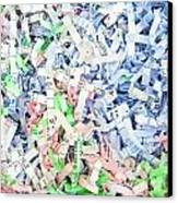 Shredded Paper Canvas Print by Tom Gowanlock