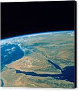 Shuttle Photograph Of The Middle East Canvas Print by Nasa