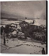 Siberia, Prison Guards Surrounding Canvas Print by Everett