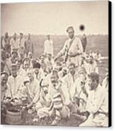 Siberia, Siberian Convicts Taking Lunch Canvas Print