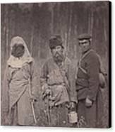Siberia, Three Escaped Convicts Canvas Print by Everett