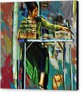 Sidewalk Sales Canvas Print by Dale Stillman