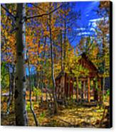 Sierra Nevada Fall Colors Barn Canvas Print by Scott McGuire