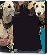 Sighthounds Canvas Print by Kris Hackleman