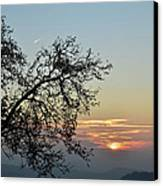 Silhouette At Sunset Canvas Print