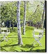 Silver Birches Canvas Print by Lucy Willis