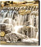 Simple Yet Powerful Waterfall Canvas Print by Daphne Sampson