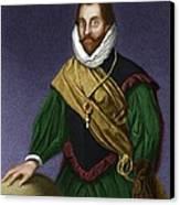 Sir Francis Drake, English Explorer Canvas Print by Maria Platt-evans