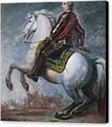 Sir Jeffrey Amherst Canvas Print by Sir Joshua Reynolds