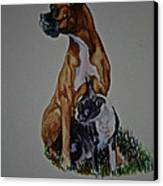 Sister Story Canvas Print by Susan Herber