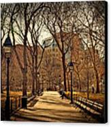 Sitting In The Park Canvas Print by Kathy Jennings