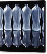 Six Glass Bottles Canvas Print by David Chapman