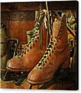 Skates Canvas Print by Karen Lynch