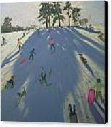 Skiing Canvas Print by Andrew Macara
