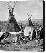 Skin Tepees, Shoshone Indians. Ca Canvas Print by Everett