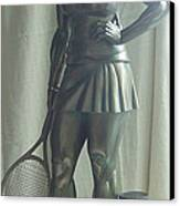 Skupture Tennis Player Canvas Print