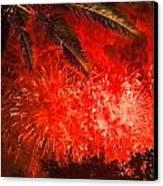 Sky Fire Canvas Print by Debra and Dave Vanderlaan