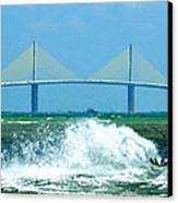 Skyway Splash Canvas Print by David Lee Thompson