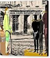 Slave Auction Canvas Print