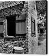 Slave Cabins Canvas Print by Steven Ainsworth