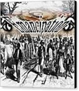 Slaves Traveling To Freedom Land Canvas Print by Belinda Threeths
