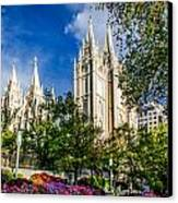 Slc Nw View Canvas Print by La Rae  Roberts