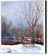 Sleigh Ride Canvas Print by Wendy Cunico