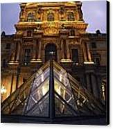 Small Glass Pyramid Outside The Louvre Canvas Print by Axiom Photographic
