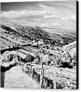Small Twisty Narrow Country Mountain Road Through Glendun Scenic Route Glendun County Antrim Canvas Print by Joe Fox