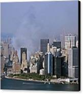 Smoke From The Ruins Of The World Trade Canvas Print