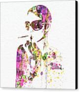 Smoking In The Sun Canvas Print by Naxart Studio