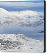 Snow Covered Landscape In Winter Near Canvas Print by Peter Zoeller