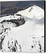 Snow-covered Ngauruhoe Cone, Mount Canvas Print by Richard Roscoe