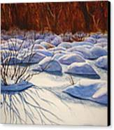 Snow Mounds Canvas Print by Daydre Hamilton