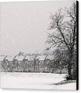Snow Scape London Sw Canvas Print by Lenny Carter