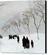 Snow Storm Canvas Print by Anton Mauve