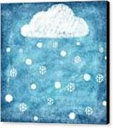 Snow Winter Canvas Print